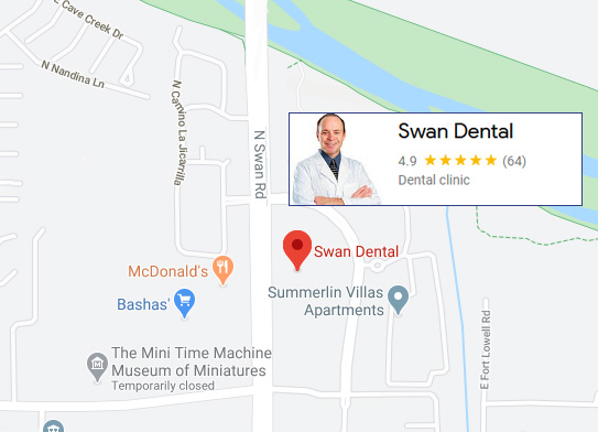 Swan Dental Location map